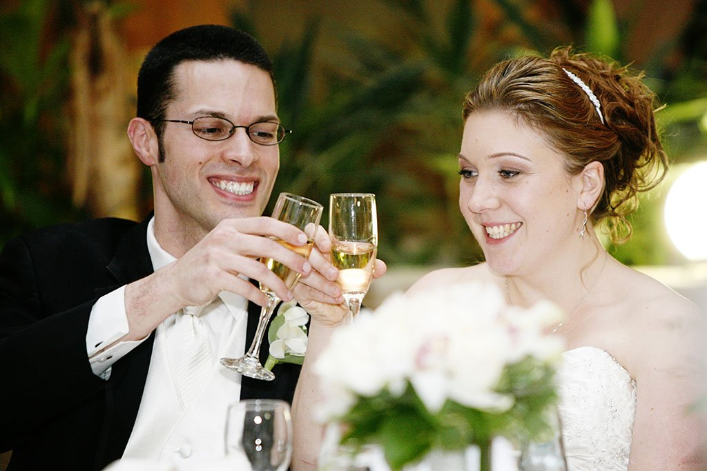 Wedding Champagne Toast, Erin & Joe Married