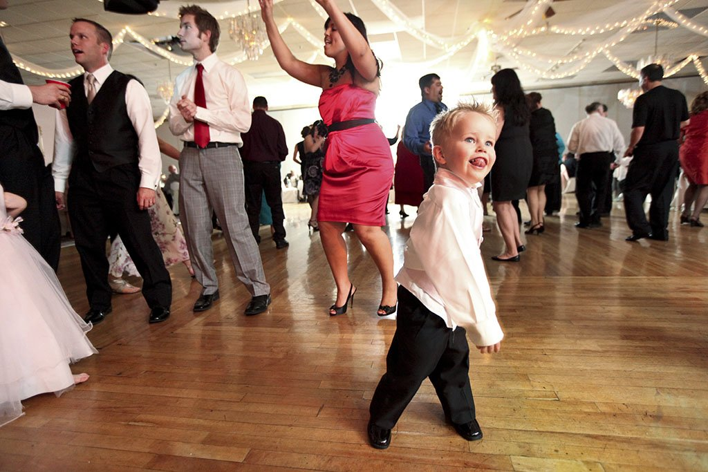 Wedding Reception Party, kid dancing