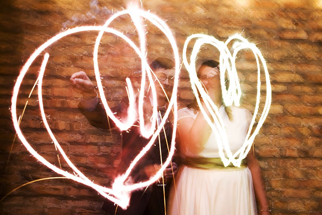 Wedding Sparklers Hearts
