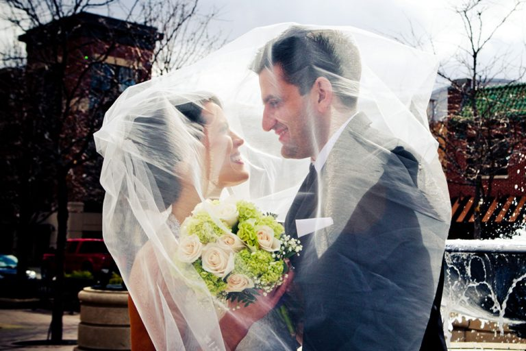 Wedding Veil Bride Groom Sunny, Minneapolis Wedding Photographer
