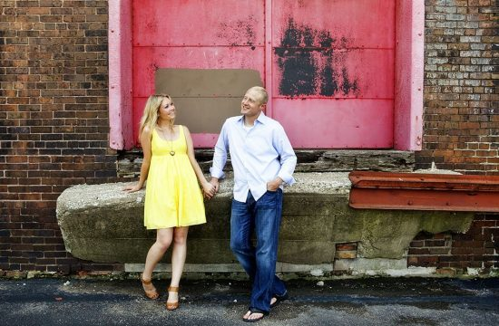Charles & Beata, West Loop Chicago Red Door Engagement Photography