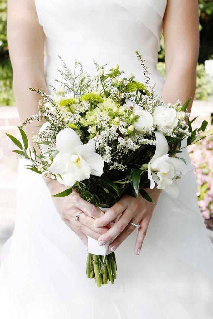 White Orchid Wedding Bouquet, Chicago Wedding Photographers