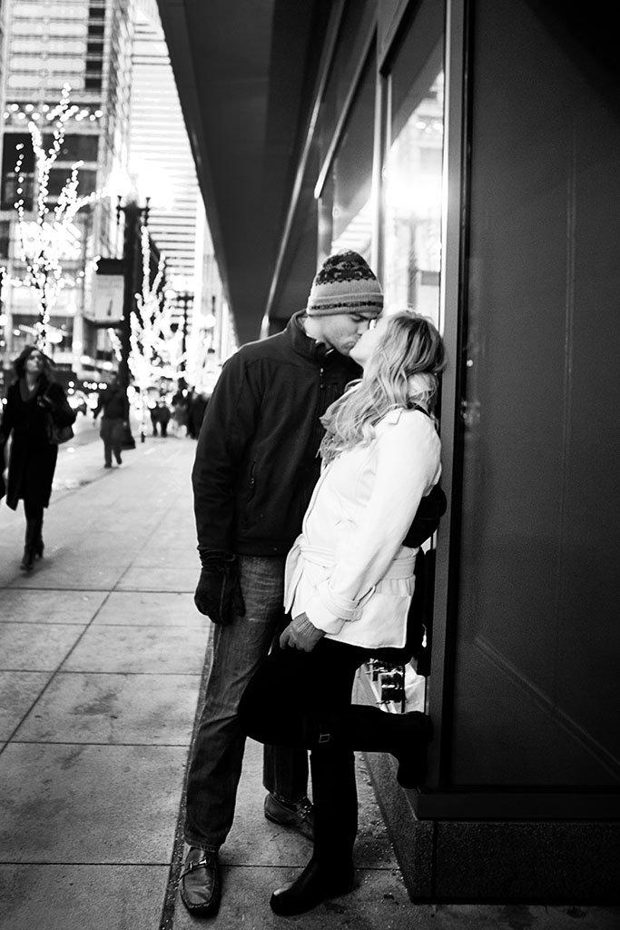 Winter Chicago Engagement Photography, KRISTINA + JOHN