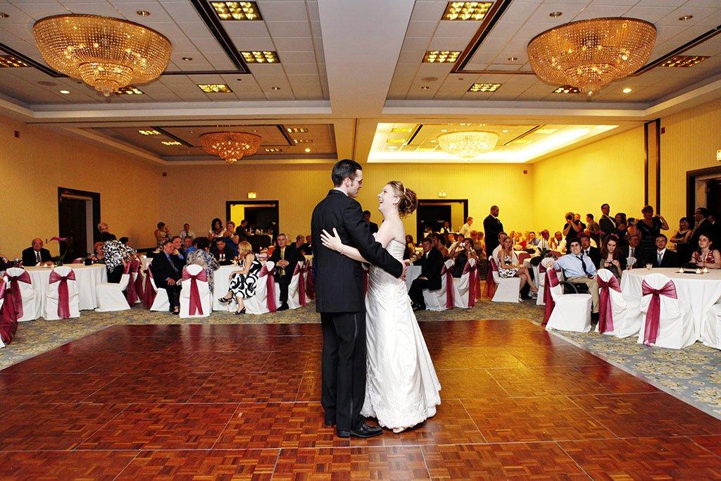 Wyndham Hotel Glenview Wedding Reception Dance, Erin & Joe Married